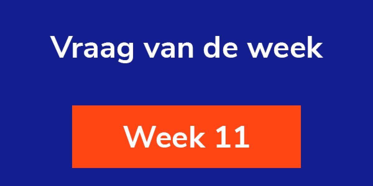 Vraag van de week